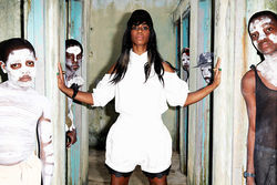 Santigold holds it together.