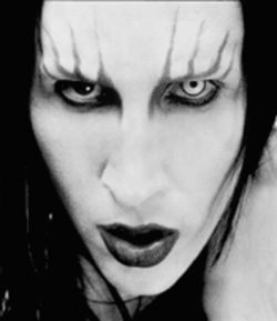 Don't touch that, it's evil: Well, for once, Marilyn Manson might not be the bad guy. Actually, whoever is spending 36 bones on a Japanese import CD by Manson is the bad guy.