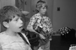 "Got it goin' on: 9-year-old Alex Kanaan (left) once sang a crowd-pleasing version of Fountains of Wayne's ""Stacy's Mom."""