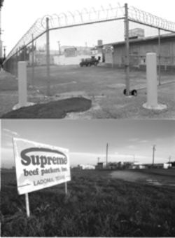 Both of Supreme Beef's plants--in Dallas (top) and Ladonia, in Fannin County (bottom)--have ceased operation. Some 400 employees lost their jobs, and the Ladonia plant's closing effectively shut down the entire town.