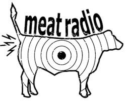 If this logo is to be believed, the mysterious Meat Radio broadcasts out of a cow&#039;s ass.