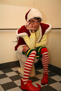 Same pixie shoes, different stage: Nye Cooper brings David Sedaris' The Santaland Diaries to Contemporary Theatre of Dallas.
