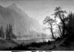 "Albert Bierstadt's  ""Sunrise, Yosemite Valley"""