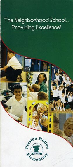 The PTA brochure featured mainly Anglo children.