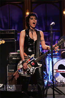 Joan Jett still loves playing with fire.