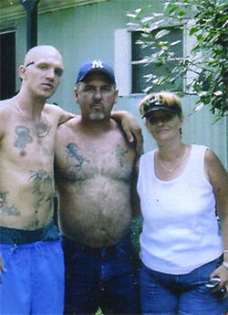 Dale Jameton with friends during some of his limited time outside prison.