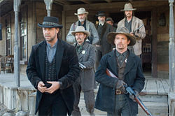 Bad guys always have the cooler clothes: Russell Crowe looks marvelous in 3:10 to Yuma.