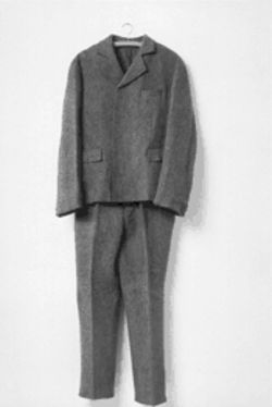 """Felt Suit (Fitzanzug),"" 1970, one of Joseph Beuys' vaguely autobiographical ""sculptures"""