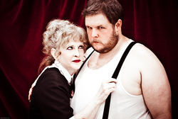 Andi Allen and Shane Strawbridge play a couple of cut-ups in Level Ground Arts' production of Sondheim's Sweeney Todd: The Demon Barber of Fleet Street.