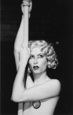 As the title character in Barbette, Joey Steakley rises above what's expected of most actors—25 feet above, to be exact.