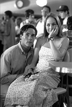 Cut and paste: Chris Klein and Leelee Sobieski get all gooey in this Love Story redux.