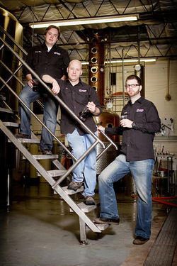 Ranger Creek founders (from top) Mark McDavid, TJ Miller and Dennis Rylander: Like all makers of aged whiskey, the men have a business plan that requires skill, patience and optimism.