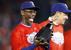 A big contribution to the Texas Rangers' success: manager Ron Washington's infectious optimism.
