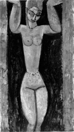 "A typical Modigliani nude: ""Caryatid,"" 1911-1913"