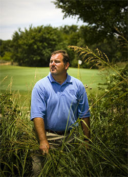 Mark Claburn, director of Tierra Verde, an award-winning golf course in Arlington, says organic methods recommended by Howard Garrett are saving his golf course a lot of money.
