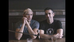 "Sex columnist Dan Savage, right, and his husband Terry Miller, left, appear in the inaugural ""It Gets Better"" video."