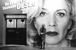 Someone to watch over me: Manuela (Cecilia Roth) stands in front of a poster advertising Huma (Marisa Paredes) in A Streetcar Named Desire.