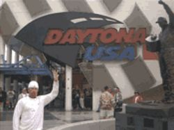 I even went to Daytona and gave the three-fingered salute in front of Dale Earnhardt's statue. With a straight face. Almost.