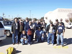 Volunteers for the North Texas chapter of the Minuteman CDC pose in Garland, where they recently used binoculars and video cameras to watch immigrant workers and the contractors who hire them.