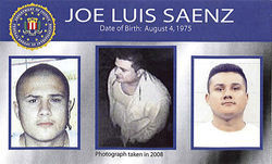 Ten Most Wanted: Jose Saenz's likeness featured on the FBI's new poster