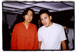 Efrain Bello and his brother Bogart in happier times