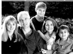 Ain't that America: Keliher, husband Lester and her family in a campaign photo.