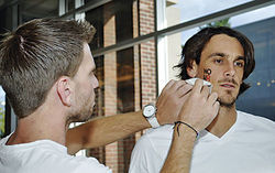 Kluwe participated in a NOH8 photo shoot in September.