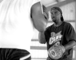 Hatley used to coach as many as 50 boxers a day. Now, because of a drop in funding, he sees maybe 20 kids a day.