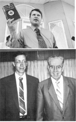 "Ross Chatwin, above, is among the Mormon fundamentalists booted from the sect by ""prophet"" Warren Jeffs, pictured below with his father, former prophet Rulon Jeffs."