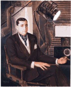 """Portrait of Mr. Jacques Gelman,"" a 1945 painting by Ángel Zárraga, now on view at the DMA."