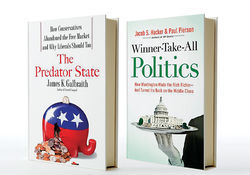 Two books, one by an economist at the LBJ School in Austin, give chapter and verse on the takeover of America by an oligarchy of atavistic Ayn-Rand-quoting ultra-rich-ocrats.