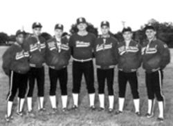 Newberg, second from left, played varsity baseball at Hillcrest High School all four years as a Panther.