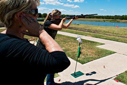 Jeannie's granddaughter is a competitive shooter, too.