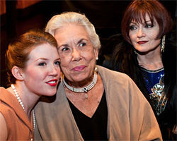 Hilary Couch, Carolyn Wickwire and Morgana Shaw play three generations of theater royalty.