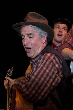 Willy Welch anchors the eight-member ensemble in Theatre Too's Woody Guthrie tribute, which shows just how relevant the singer remains today.