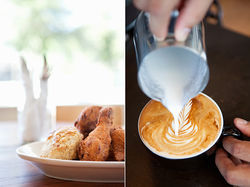 Fried chicken and coffee: two of Oddfellows' enjoyably not-odd offerings.