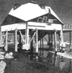 As a young man, Pickett and other surfers would gather at the Octagon, a misnamed six-sided building in Surfside. Time, wind, and water eventually placed the landmark on the public beach, until it was knocked down and set ablaze by order of the village.