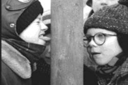To see A Christmas Story for free, you don't have to lick a frozen pole; just bring a new unwrapped toy to the Angelika Film Center.