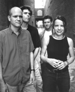 Outdoor living: Superchunk is, from left, Jim Wilbur, Jon Wurster, Mac McCaughan and Laura Ballance.