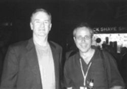 Dan Perkins, right, with Bill OReilly. Too much of the media wants to be like Bill, Perkins says.