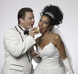 Audience members—the gamer, the better—become characters in the wedding of Tony (Scott Belucchi) and Tina (Denise Fennell).