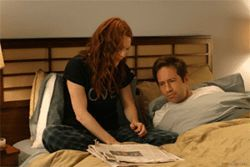 David Duchovny and Julianne Moore as yet another movie couple not getting any