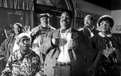 Eddie Murpy, Eddie Murpy, Eddie Murphy, Eddie Murphy, and Eddie Murphy star in Nutty Professor II: The Klumps.