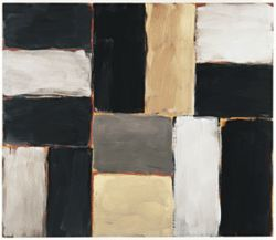"Sean Scully's  ""Pale White Wall"""