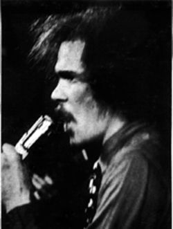 Ed Sanders, as he appeared on the back of The Fugs' self-titled 1966 debut