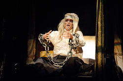 Jonathan Brooks as Jacob Marley's Ghost in DTC's A Christmas Carol.