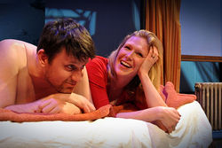 Husband-and-wife actors Thomas and Sherry Jo Ward are a sad, funny couple on a one-night stand in the new play International Falls at the Out of the Loop Fest.