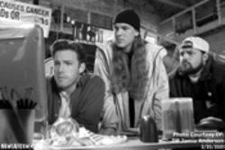 Unholy trinity: Holden (Ben Affleck), Jay (Jason Mewes) and Silent Bob (Kevin Smith) cruise the Internet for a better movie.