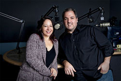 Gini Mascorro and Joe Kozera, the voices behind KXT-91.7 FM.