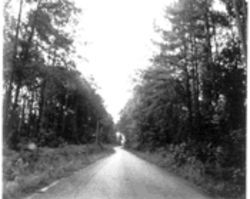 The road where James Byrd Jr. met his death at the hands of three white supremacists